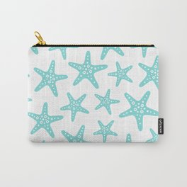 Sweet Starfish Pattern 235 Aqua Carry-All Pouch