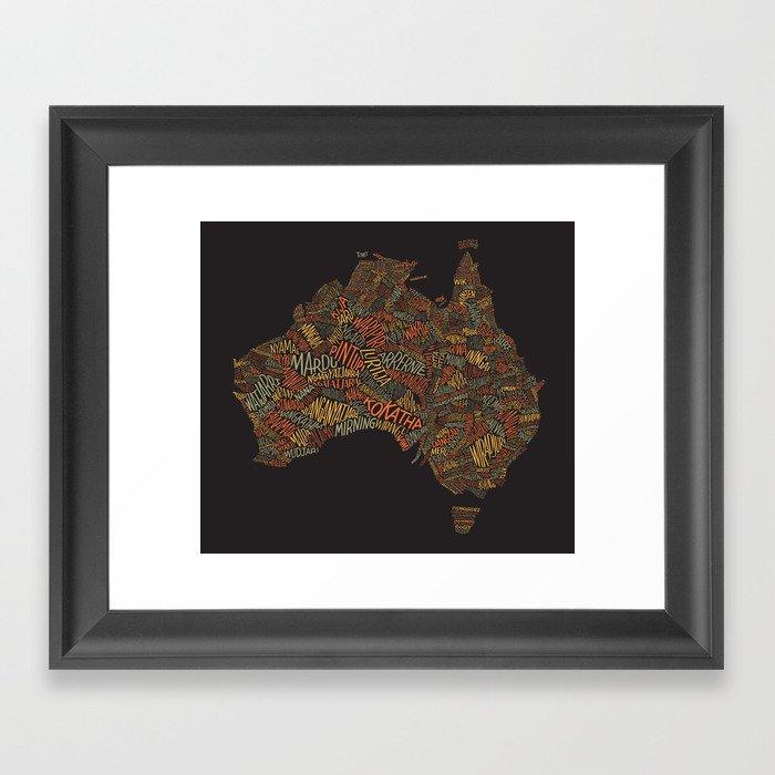 Indigenous Australia Gerahmter Kunstdruck