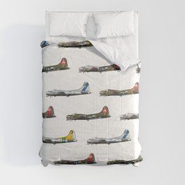 Classic B-17 Flying Fortress Continuous Pattern Comforters