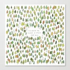 A Tree Falls Canvas Print