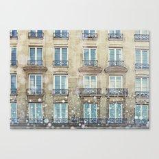 Paris Windows Canvas Print