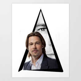 Youtriangle ∆ BradPitt Art Print