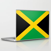 jamaica Laptop & iPad Skins featuring Flag of Jamaica by Neville Hawkins