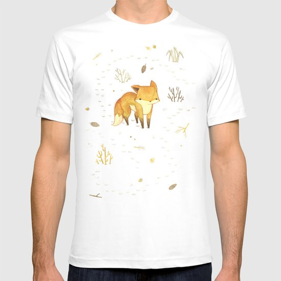 Lonely Winter Fox T-shirt