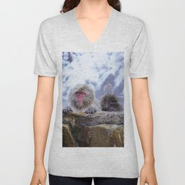 Jigokudani Monkey Park (Japan) Unisex V-Neck