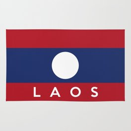 flag of laos Rug