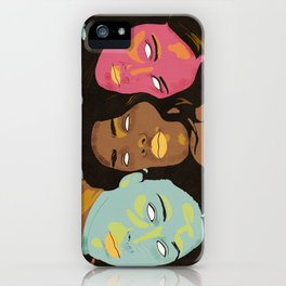 Power of Girls Drawing iPhone Case
