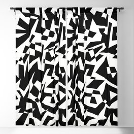 Black and White Maze Blackout Curtain