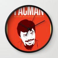 pacman Wall Clocks featuring Pacman by Yo Jimbo