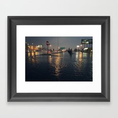 Flooding Framed Art Print