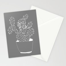 cactus in white Stationery Cards