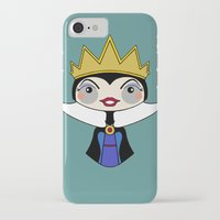 evil queen iPhone & iPod Cases featuring evil queen by guizmo04