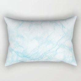 Elegant pastel blue white modern marble Rectangular Pillow