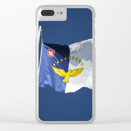 Flag of Azores islands Clear iPhone Case