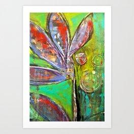 Green Dream original art from Stacey Brown Art Print