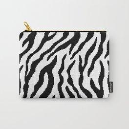 8 bit Zebra stripes pattern. Digital illustration Carry-All Pouch