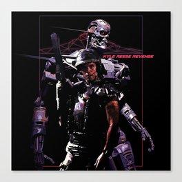 Kyle Reese Revenge Aliens Terminator 80s synthwave Canvas Print