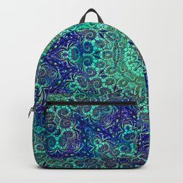 Aqua and Violet Mandala Lace Backpack