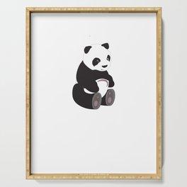 Cute Panda For Girl Best Gift Cute Love Serving Tray