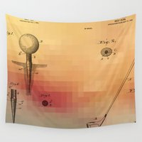 golf Wall Tapestries featuring Golf Patent by jbjart