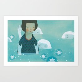 Drown Art Print