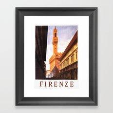 Firenze - Florence Italy Vintage Travel Framed Art Print