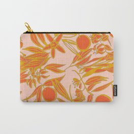 Orange Blossoms on Peach Carry-All Pouch