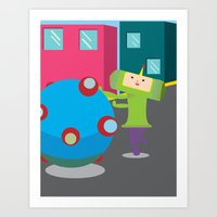 katamari Art Prints featuring Katamari Demacy by Of Lions And Lambs