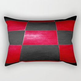 Red and Black Checkers Rectangular Pillow