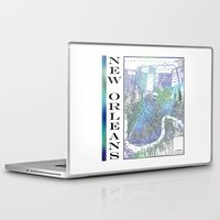 new orleans Laptop & iPad Skins featuring New Orleans by Catherine Holcombe