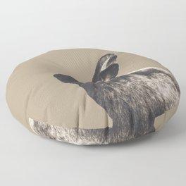 Little Rabbit on Sepia #1 #decor #art #society6 Floor Pillow