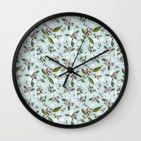 jasmine Wall Clocks featuring jasmine by Mayacoa