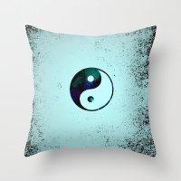 yin yang Throw Pillows featuring Yin & Yang by Mr and Mrs Quirynen