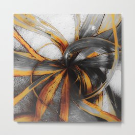 spiral leaves texture abstract background Metal Print
