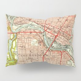 Vintage Map of Youngstown Ohio (1951) Pillow Sham