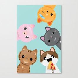 Orignal 5 Tiny Tabbies Canvas Print