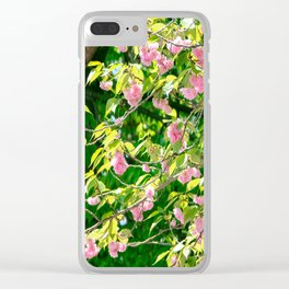 Sweeping Cherry Blossom Branches Clear iPhone Case