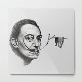 Dali and his clock Metal Print