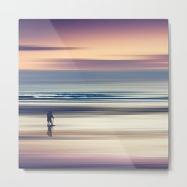 Sharing the Magic - abstract seascape at sunset Metal Print