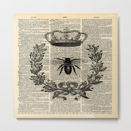 Paris french  garden farmhouse beekeeper honey bee queen Metal Print