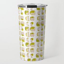 Eating process (Apple) // watercolor apple consumption Travel Mug
