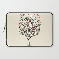 elegant Laptop Sleeves featuring Out On a Lark by Oliver Lake