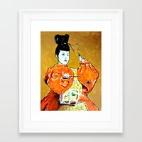 drum Framed Art Prints featuring Drum Ceremony by Ron Trickett