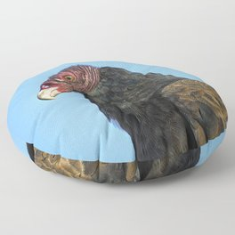 A Turkey Vulture In Profile. Floor Pillow