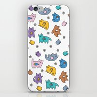 kittens iPhone & iPod Skins featuring Kittens by Plushedelica