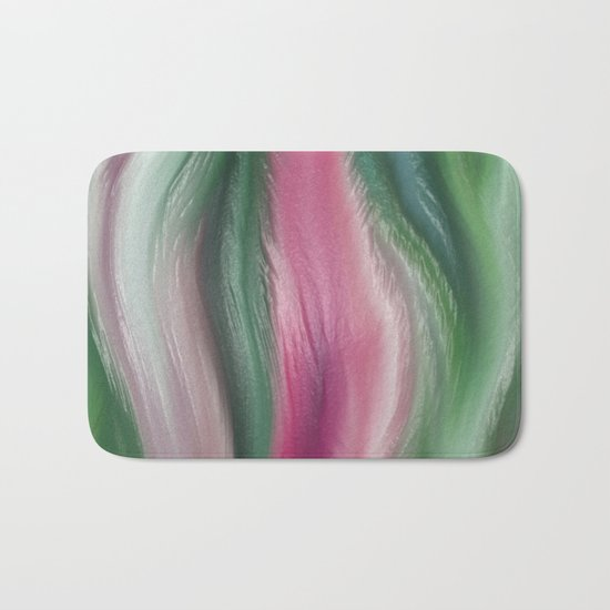 Modern abstract background or texture with flowing wavy lines Bath Mat