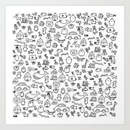 The TourBunny Pattern Art Print