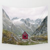 mint Wall Tapestries featuring Mint Hut by Kevin Russ