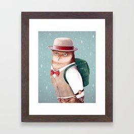 Going Home For Christmas Framed Art Print