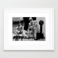 pitbull Framed Art Prints featuring Pitbull by Anush's Art